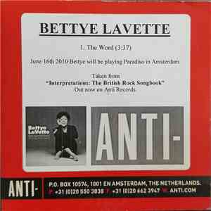 Bettye Lavette - The Word mp3 download