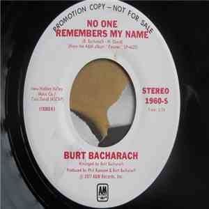Burt Bacharach - Futures / No One Remembers My Name